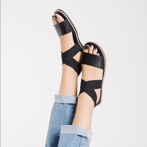Sorel Ella Leather Black Sandal